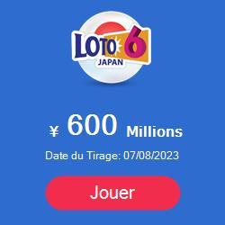 prochain tirage du Loto 6 au Japon : dates et montant de la cagnotte à gagner