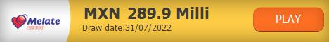 Mexico Melate current jackpot