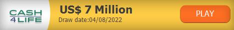 New Jersey Cash4Life lottery current jackpot