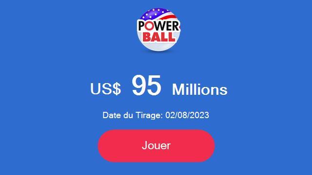 POWERBALL : Gagner jusqu'à 380 millions à la loterie américaine ! 2