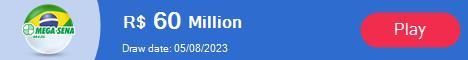 Brazil Mega Sena Lotto current jackpot